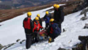 Rescue: Man slipped and fall on Drochaid Ghlas (file pic).