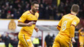Michael Higdon in action for Motherwell in February 2013.
