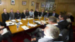 First Division clubs have met to discuss measures to restructure Scottish football.
