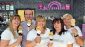 Equi's Ice Cream Motherwell shop