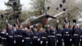 1333 Grangemouth Spitfire Squadron at the unveiling of a full size replica Spitfire