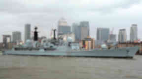 HMS Edinburgh set sail for a final visit to the city it was named after as the ship continues its farewell tour on May 12 2013.  The Navy's largest Type 42 Destroyer sailed under Tower Bridge as it left London and headed for the east coast on its journey to Leith docks, where the crew will parade through the streets of the Scottish capital.