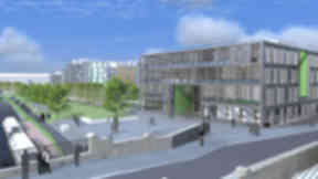 Design: Artist's impression of the new school.