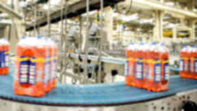 Generic of some Irn-Bru bottles at a factory owned by AG Barr