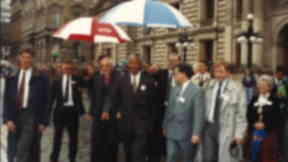 Nelson Mandela's visit  to Glasgow 1993 in George Square