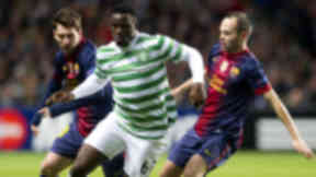 Victor Wanyama in action for Celtic v Barcelona.