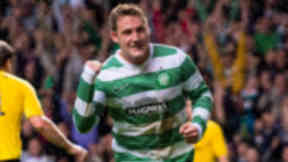 Celtic's Kris Commons celebrates opening the scoring against Elfsborg.