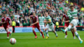 Celtic's Kris Commons fires his side in front from the penalty spot