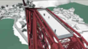 Artist's impression: Plans for a viewing platform at the north side of the Forth Bridge.
