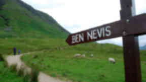 Ben Nevis: Concerns about erosion in the area known as the grassy bank (file pic).