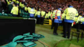 Ajax fans are accused of ripping out seats at Celtic Park.