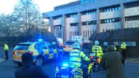 Irish Republican terror suspects escorted to Glasgow Sheriff Court. October 29, 2013.