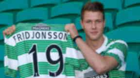 New Celtic striker Holmbert Fridjonsson.