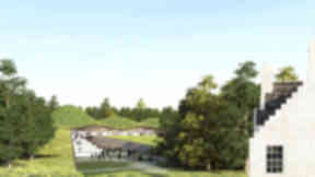 handout picture of artist's impression of new Macallan distillery, due to open in 2017.