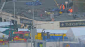 Firefighters at the Clutha