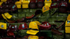 Vandalised seats at Fir Park.