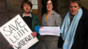 Save Leith Waterworld campaigners hand in 6200 signature petition to city councillors