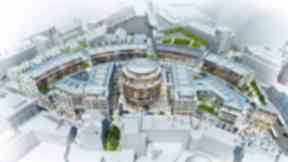 St James development announced on April 29, 2014. PR image from City of Edinburgh Council
