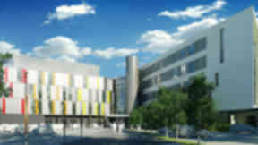 Image of the new Royal Hospital for Sick Children, Sick Kids Hospital Edinburgh.