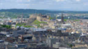 Status: Edinburgh city centre is a World Heritage site (file pic).
