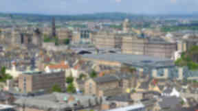 Quality image of Edinburgh - general view of city centre.