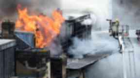 Art ablaze: Glasgow School of Art on fire.