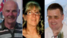 Len Stern, Elizabeth or Betty Allan and Iain Provan who died at the Jim Clark Rally at Little Swinton on May 31, 2014.