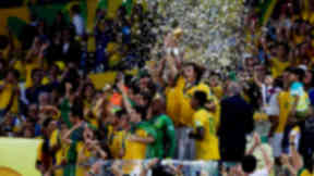 Brazil celebrate winning Confederations Cup 2013