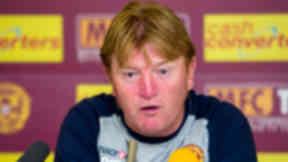 Pondering: Motherwell manager Stuart McCall is thinking about his summer business.