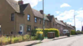 Woodburn Road, Dalkeith, Midlothain where shots were fired at a home.