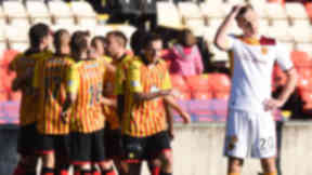 Woes: Motherwell's recent struggles continued with a 3-1 defeat to Partick Thistle at Firhill.