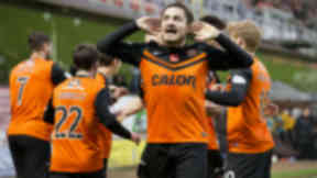 Return: Paul Paton scored the opener for Dundee United after missing last week's defeat to Inverness.