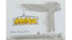 George Wyllie's sketch of the 'Straw Locomotive'.