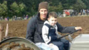 Victim: William Sangster with younger brother Lewis.