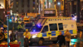 George Square: The scene of the crash on Monday December 22, 2014.
