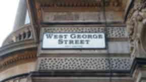 West George Street: Man injured after attempted murder.