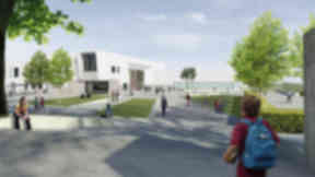 Portobello High: An artist's impression of the new school.