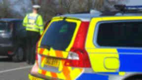 Crash: Police closed the road (file pic).
