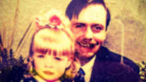 David Rusling, a haemophilia patient who contracted Hepatitis C, and his daughter Charlotte. Collect given at Penrose Inquiry on March 25, 2015.