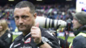 Head coach Michael Bradley gives the thumbs up as Edinburgh march into the semi-finals of the Heineken Cup.