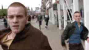 Trainspotting: The famous Princes Street scene from the 1996 film.