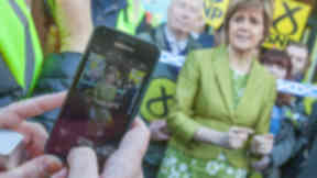Nicola Sturgeon SNP mobile phone.