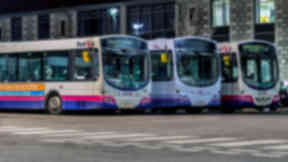 First Bus: The operator said Stirling Council is responsible for updating timetables (file pic).