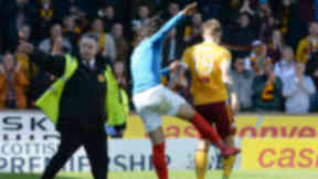 Rangers' Bilel Mohsni clashes with Lee Erwin