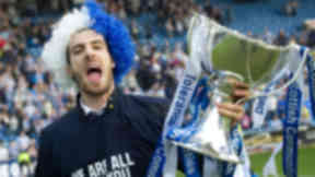 Kilmarnock captain Manuel Pascali shows off the League Cup trophy
