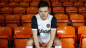 Scott Fraser models new Dundee United strip