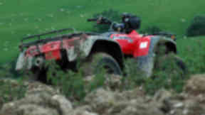 Quad bike: Girl taken to hospital with injuries to her face and arms.