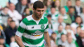 Nadir Ciftci in action for Celtic.