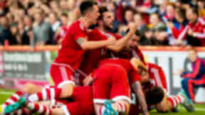 Aberdeen celebrate v Rijeka