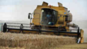 Generic image of combine harvester in field on farm. Quality news image uploaded September 16 2015.